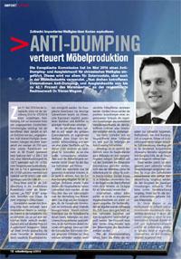 Antidumpingzölle auf Möbelglas