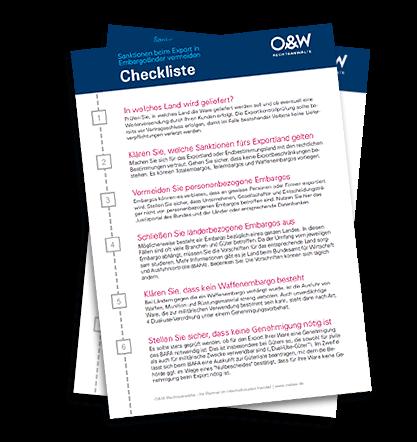 Checkliste - Ohne Sanktionen exportieren