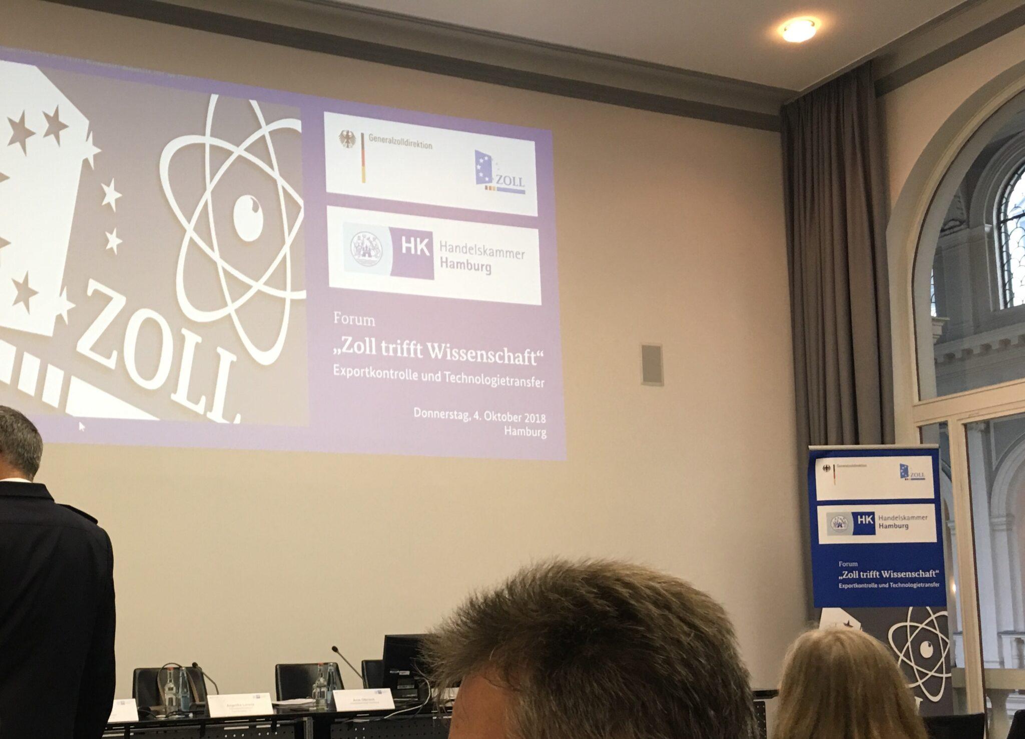 Exportkontrolle und Technologietransfer in der Wissenschaft – Zollforum in Hamburg